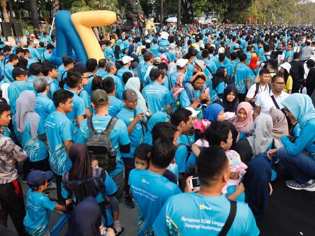 Merayakan Hari Listrik Nasional (HLN) ke 74, PLN menggelar kegiatan Family Day 2019 bersama kurang lebih 40.000 peserta yang terdiri dari pegawai dan keluarga besar PLN se-Jabodetabek serta perwakilan unit PLN seluruh Indonesia, di Jakarta Convention Center, Jakarta, pada Minggu (10/11).