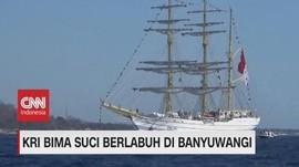 VIDEO: Berlayar ke 9 Negara, KRI Bima Suci Tiba di Banyuwangi