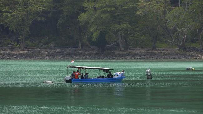 Keindahan alam dan perairan laut Pulau Weh sebutan lain untuk Kota Sabang itu sangat cantik. (CHAIDEER MAHYUDDIN / AFP)