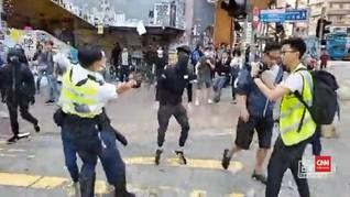 VIDEO: Detik-detik Polisi Hong Kong Tembak Dada Pedemo
