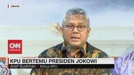 VIDEO: Temui Jokowi, KPU Berikan Laporan Pemilu 2019