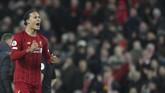 Liverpool makin kokoh di puncak klasemen Liga Inggris. The Reds kini unggul delapan angka dari Leicester City dan Chelsea.(AP Photo/Jon Super)