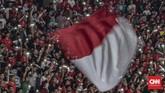 Setelah menjalani dua laga awal di Stadion Madya, Timnas Indonesia U-19 menjamu Korea Utara U-19 di Stadion Utama Gelora Bung Karno. (CNN Indonesia/Bisma Septalisma)