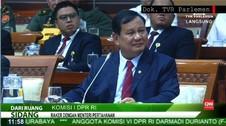 VIDEO : PDIP dan Menhan Prabowo Debat Anggaran Kemhan