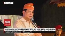 VIDEO: Menhan Prabowo Resmikan Patung Jendral Soedirman