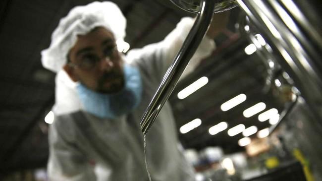 Arak Saggi merupakan minuman distilasi yang diproduksi oleh seorang warga Iran di Kanada. Arak diracik untuk menghidupkan kembali budaya minum alkohol tanah airnya. (AP Photo/Kamran Jebreili)