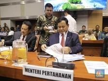 Ini Debut Menhan Prabowo di Komisi I DPR