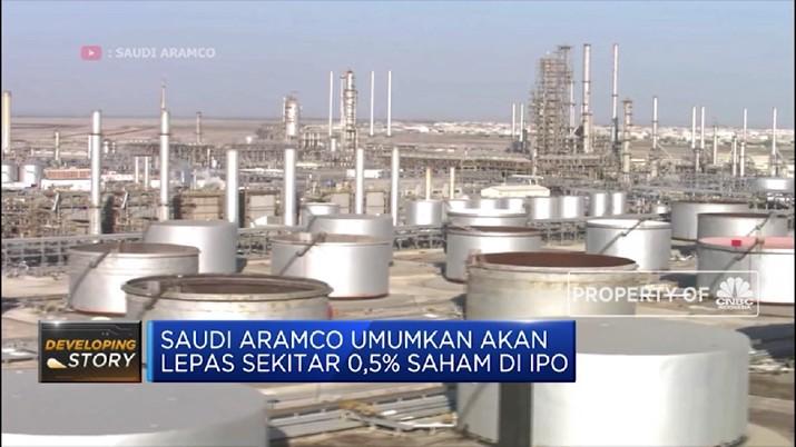 Valuasi perusahaan minyak raksasa asal Arab Saudi, Saudi Aramco diperkirakan senilai US$ 1,7 triliun berdasarkan pengumuman IPO pada Minggu (17/11/2019).