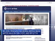 Rugi Bersih Bank Artos Melonjak 86%