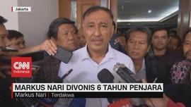 VIDEO: Kasus Suap E-KTP, Markus Nari Divonis 6 Tahun Penjara