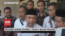 VIDEO: Pelawak Qomar Divonis 1,5 Tahun Penjara
