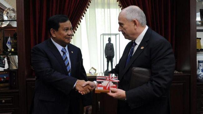 Prabowo Belum Bahas Rencana Kunjungi AS saat Bertemu Dubes