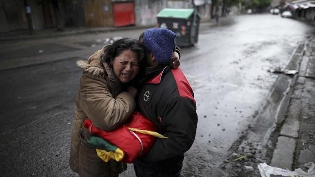 Organisasi Negara-negara Amerika melakukan audit pemilihan dan menyatakan menemukan penyimpangan dalam pemilu Bolivia.(AP Photo/Natacha Pisarenko)
