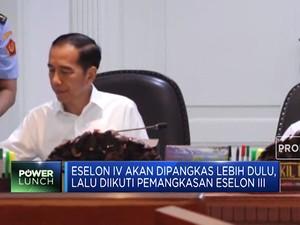 Jokowi Tegaskan Komitmen Pangkas Eselon III & IV