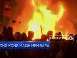 Api Berkobar di Tengah Aksi Demo Hong Kong