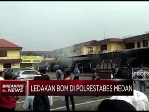 Ledakan Diduga Bom Bunuh Diri Terjadi di Mapolrestabes Medan