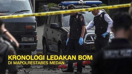 VIDEO: Pelaku Bom Bunuh Diri Dua Kali Ditegur Polisi