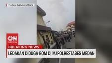 VIDEO: Ledakan Bom Bunuh Diri di Mapolrestabes Medan