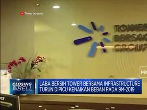 Laba Bersih Tower Bersama Turun 1,84%