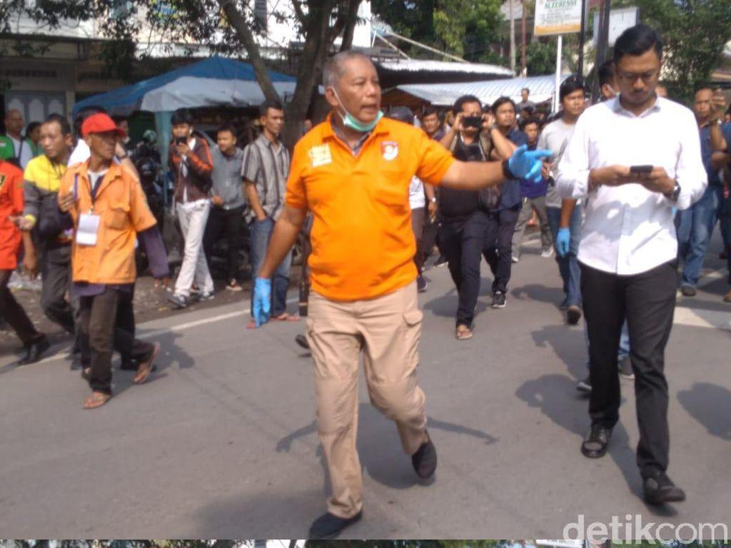 Bom bunuh diri terjadi di Polrestabes Medan, Jalan HM Said Medan Perjuangan, Medan, Rabu (13/11/2019). Ledakan terjadi sekitar pukul 08.45 WIB.
