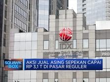 Aksi Jual Asing Sepekan Rp 3,1 T di Pasar Reguler