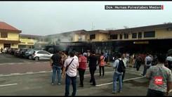 VIDEO: Ledakan Terjadi di Tempat Urus SKCK Polrestabes Medan