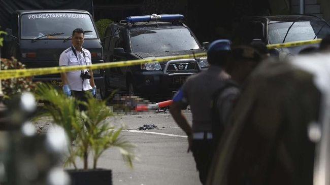 Bom Bunuh Diri di Polrestabes Medan, 4 Petugas Terluka