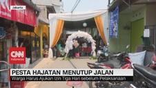 VIDEO: Pesta Hajatan Menutup Jalan, Begini Aturannya
