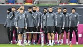 Para pemain timnas Jerman menjalani sesi latihan jelang melawan Belarusia. Jerman tinggal selangkah lagi lolos ke putaran final Piala Eropa 2020. (AP Photo/Martin Meissner)