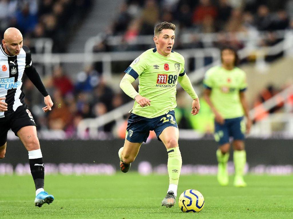Pemain muda Liverpool Harry Wilson menempati urutan keempat di daftar ini, dengan perkiraan nilai 54 juta euro. Ia saat ini dipinjamkan ke Bournemouth dan sudah mencetak empat gol dari 11 penampilan di Liga Inggris. (Foto: Nathan Stirk/Getty Images)