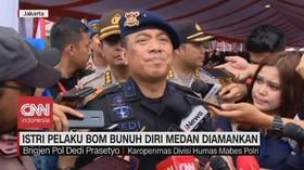 VIDEO: Istri Pelaku Bom Bunuh Diri Medan Diamankan