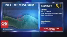 VIDEO: Gempa Bumi Magnitudo 5,1 Guncang Sejumlah Wilayah Bali