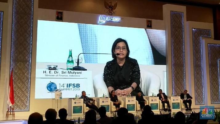 Hal itu disampaikan Sri Mulyani saat menjadi pembicara pada the 14th IFSB Board Summit di JCC, Jakarta, Kamis (14/11/2019).