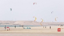 VIDEO: Dakhla, Kota di Sahara Lokasi 'Kite Surfing'