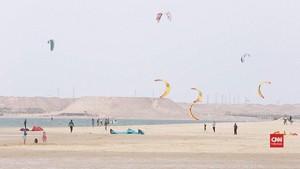 VIDEO: Dakhla, Kota di Sahara Lokasi 'Kite Surfing'