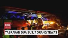 VIDEO: Tabrakan Dua Bus, 7 Orang Tewas