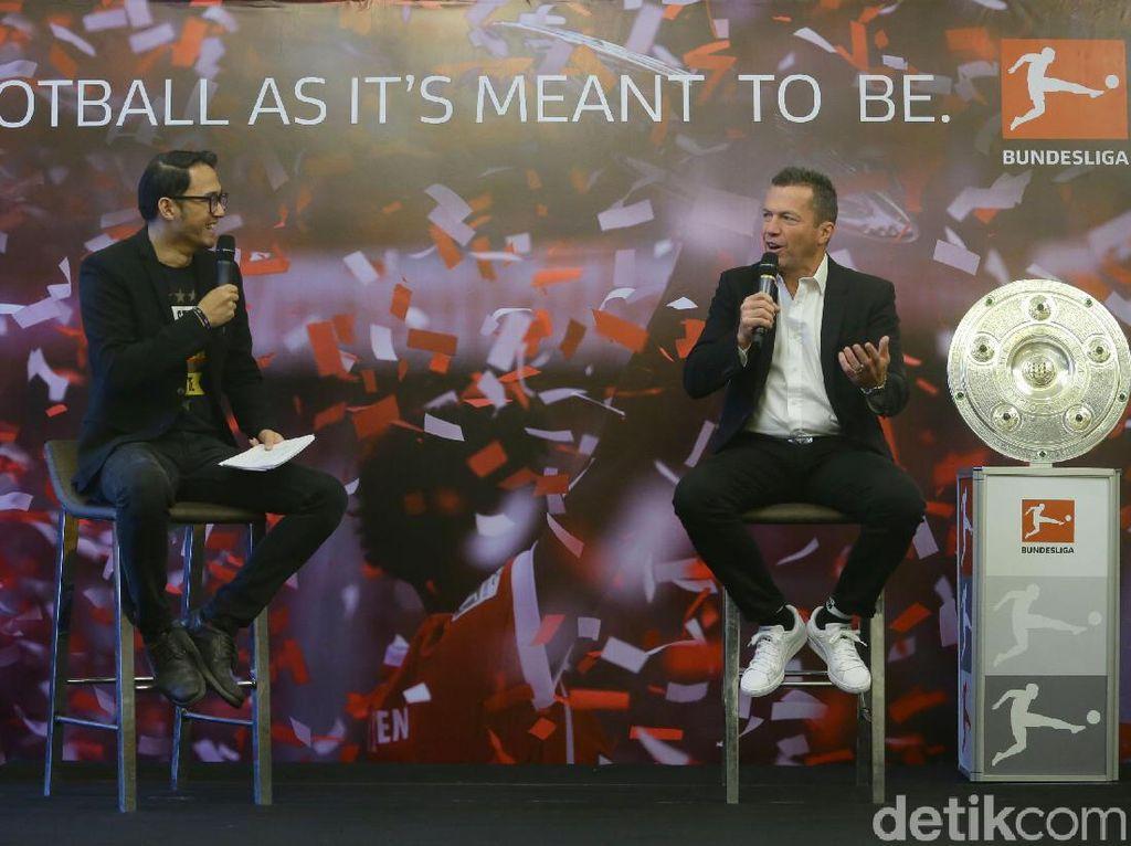 Rencananya, Matthaus akan berada di Indonesia hingga 16 November. Ia akan memeriahkan Festival Fan Bundesliga di Plaza Timur Gelora Bung Karno.