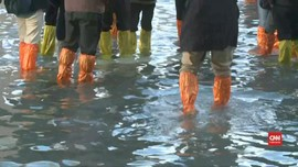 VIDEO: Pemandangan Kota Wisata Venesia yang Terendam Banjir