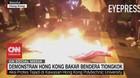 VIDEO: Demonstran Hong Kong Bakar Bendera Tiongkok