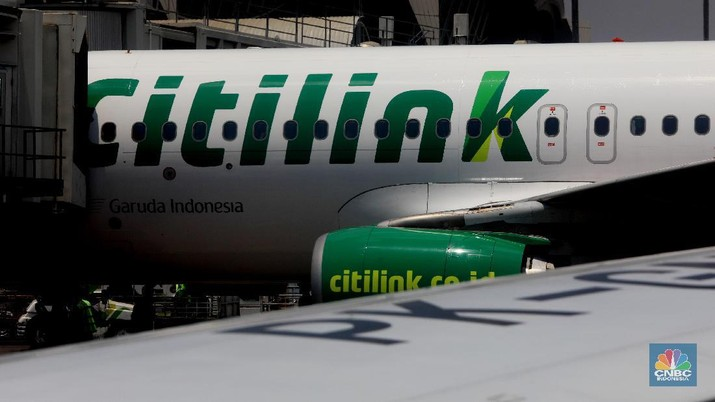 Maskapai Citilink (CNBC Indonesia/Muhammad Sabki)