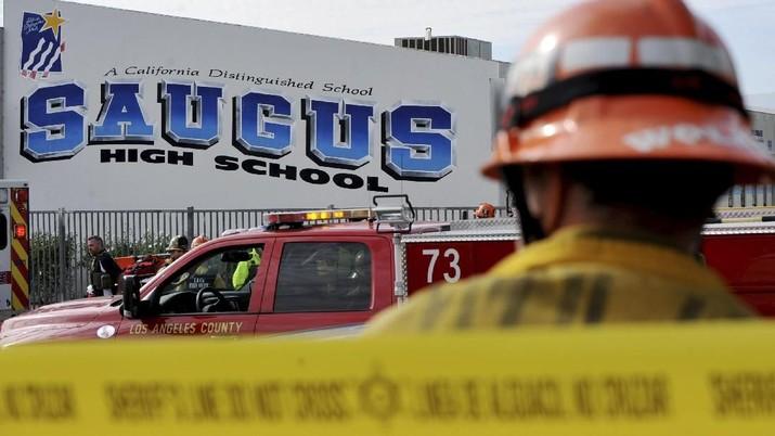 Sebuah sekolah bernama Saugus High School di California, Amerika Serikat (AS) mengalami serangan penembakan Kamis (14/11/2019).
