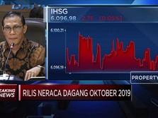 Neraca Perdagangan Oktober Surplus USD 161,3 Juta