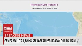 VIDEO: Gempa Malut Magnitudo 7,1, BerpotensiTsunami