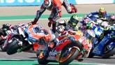Saat performa Lorenzo menanjak bersama Ducati, ia terlanjur sudah putus kontrak dengan Ducati dan bergabung dengan Honda. (JOSE JORDAN / AFP)
