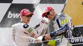 Jorge Lorenzo menjadi pesaing utama Valentino Rossi di MotoGP 2010.(Photo by FRANCISCO LEONG / AFP)
