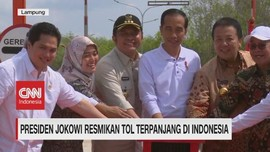 VIDEO: Presiden Jokowi Resmikan Tol Terpanjang di Indonesia