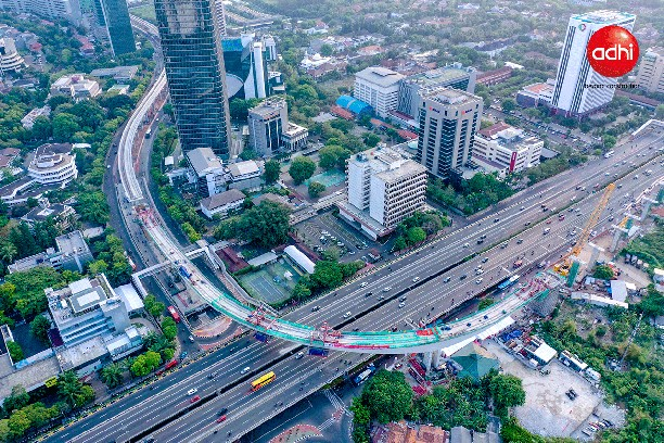 Mantul! Jembatan Lengkung LRT Jabodebek Karya Anak Bangsa