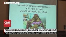 VIDEO: Operasi Berhasil, Bayi Kembar Siam Diizinkan Pulang