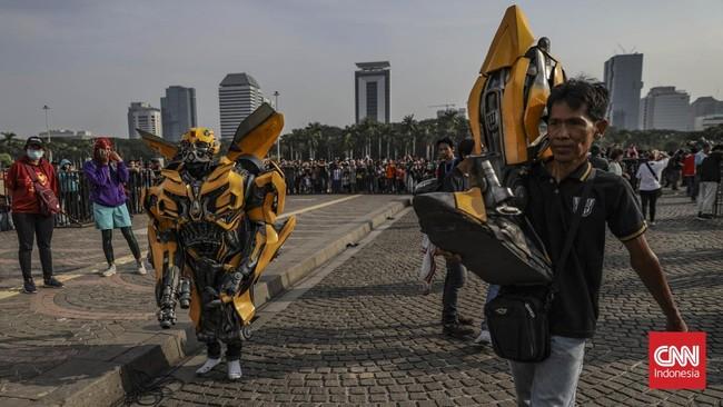 Dinas Pariwisata dan Kebudayaan DKI Jakarta menyatakan Jakarta Cosplay Parade 2019 menjadi salah satu agenda wisata. (CNN Indonesia/Bisma Septalisma)