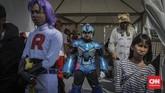 Jakarta Cosplay Parade 2019 yang bertajuk Indonesia Universe ini diikuti lebih dari 1.000 cosplayer dari berbagai daerah dan mancanegara seperti Jepang, Singapura, Malaysia, sampai Filipina. (CNN Indonesia/Bisma Septalisma)